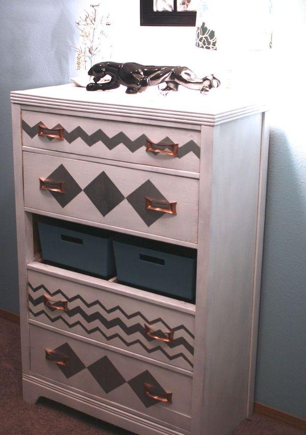 Chevron Dresser DIY